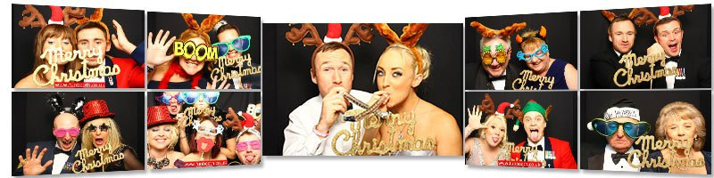 Christmas party photo booth hire with Funbooth
